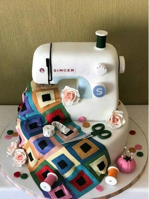 Торт машинка с квилтом