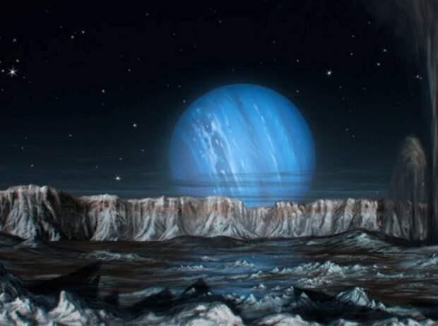 тритон, нептун, луна, космос
