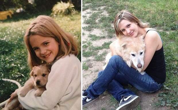 Фото милой собачки через 14 лет.