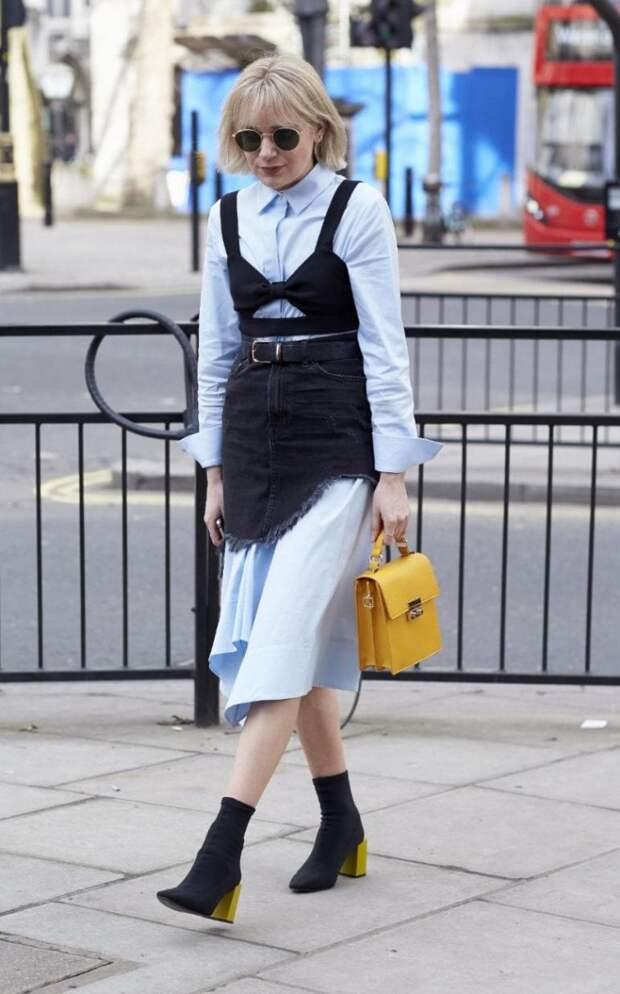 Платье рубашка с юбкой (подборка)