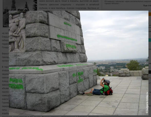 Алеша долго не знал, что ему поставили памятник…