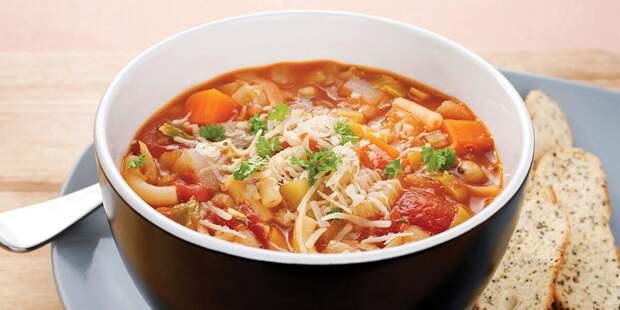 """Постный овощной суп """"Минестроне"""""""
