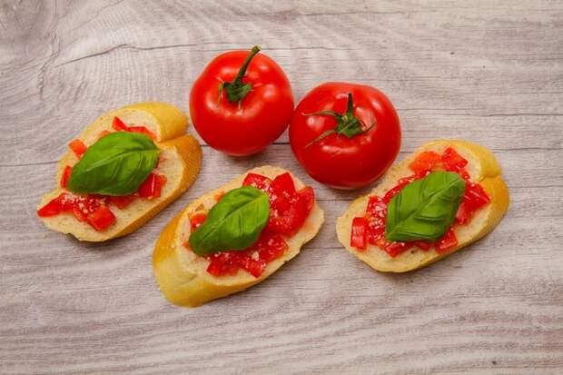 Бутерброд с овощами и зеленью