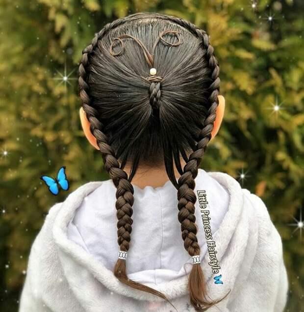 Сложные детские причёски (креатив)