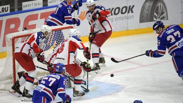 СКА выиграл четвертый матч серии против ЦСКА в плей-офф КХЛ