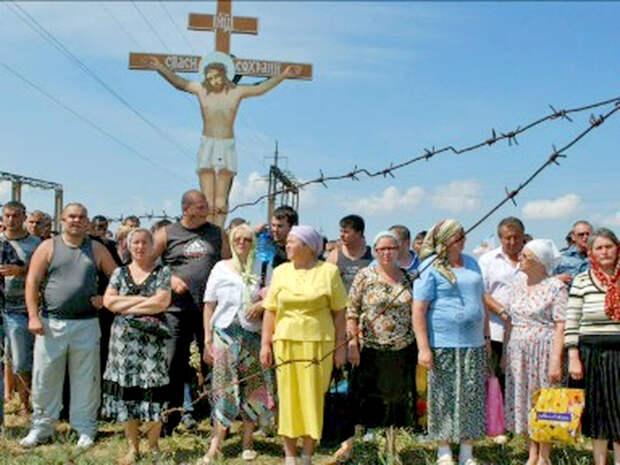Феодосия, 2011. Защитники Поклонного креста