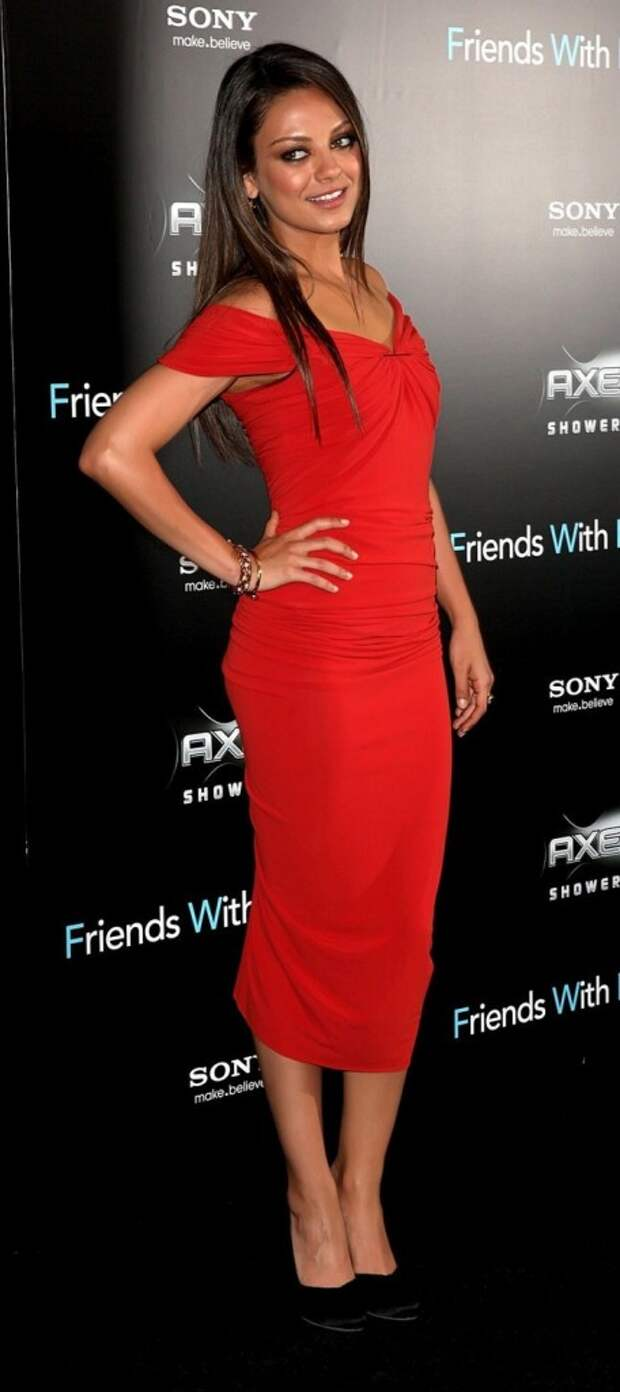 Mila Kunis red dress