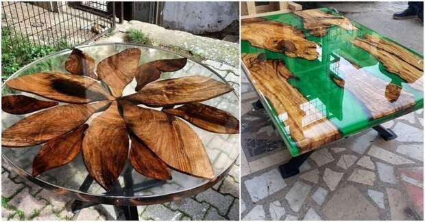 17 фантастически красивых столов с эпоксидной смолой