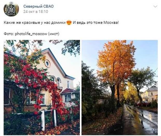 Фотокадр: коттеджная часть Северного в октябре похожа на сказку