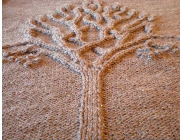 Повтор свитера с деревом и птичками