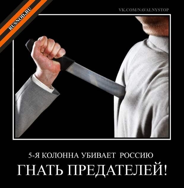 О роли пятой колонны в органах государственной власти в подготовке цветной революции в России