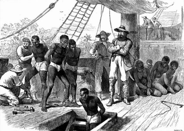 В XV-XIX веках работорговлей занимались все ведущие европейские государства, а в США рабство вообще существовало в самом натуральном виде