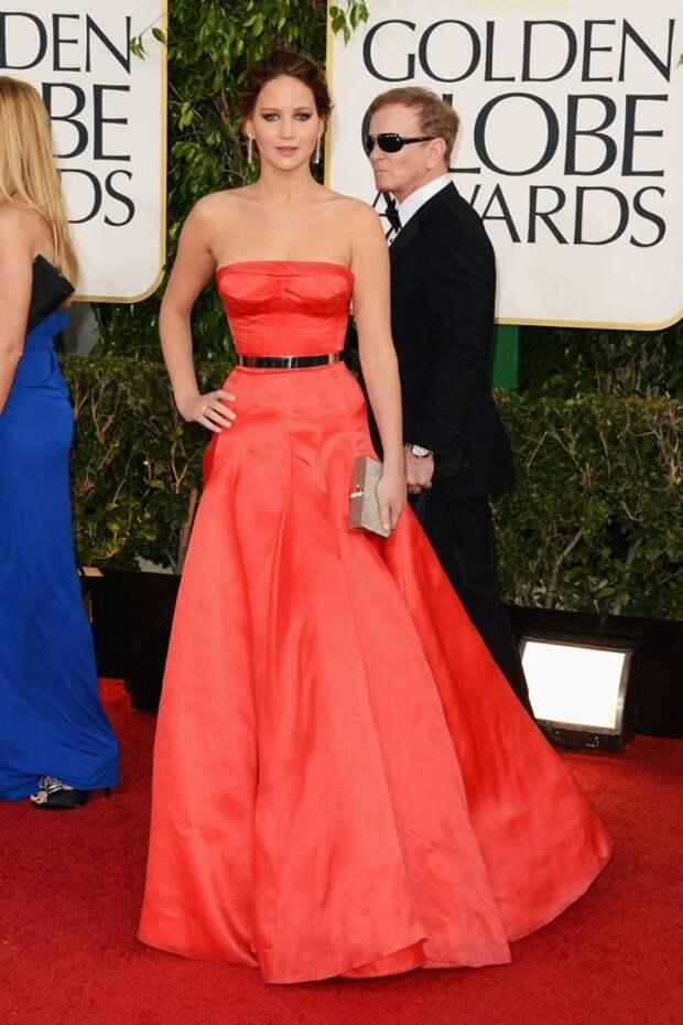 Jennifer Lawrence red dress