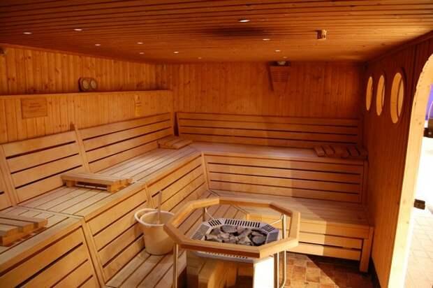 интерьер деревянной бани фото
