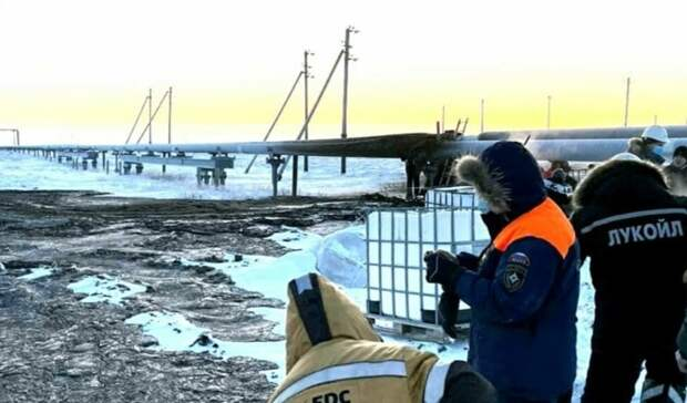 Экстремальный мороз вызвал разлив нефтесодержащей жидкости наХарьяге