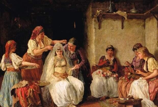 Невесте предстояло выслушать массу наставлений.