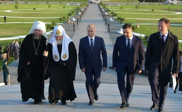 Церемония открытия мемориального комплекса «Князь Александр Невский с дружиной»