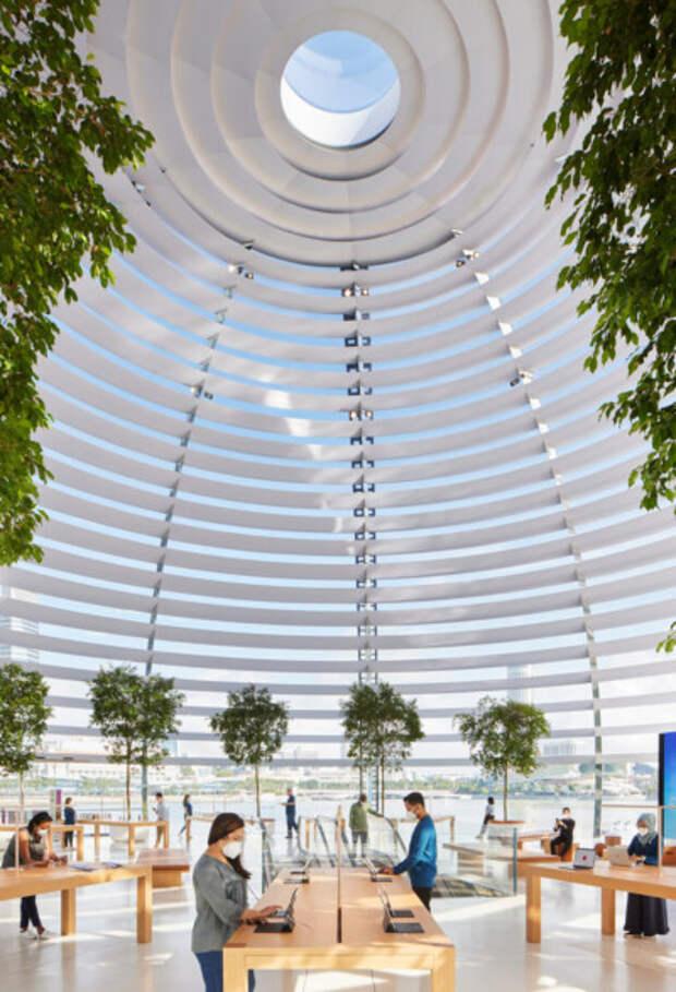 5 стильных фото плавучего магазина Apple в Сингапуре