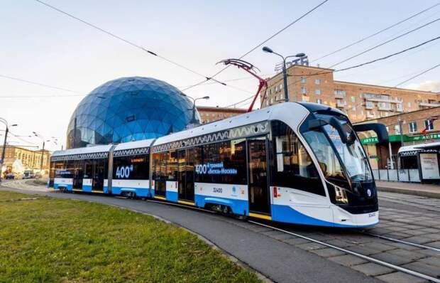 На маршрут №6 вышел 400-й трамвай нового поколения