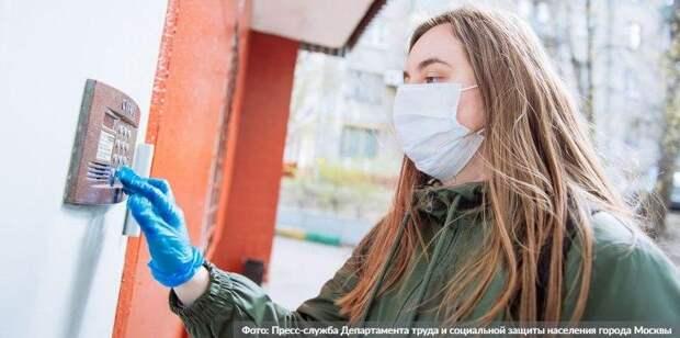 Более 25 тыс кг продуктов доставили москвичам социальные работники
