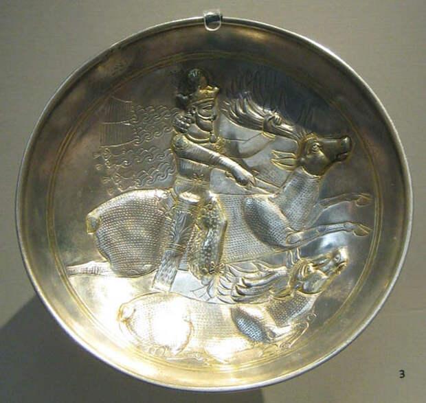 sasanide, Иран, IV sec.d.c.-серебро-блюдо