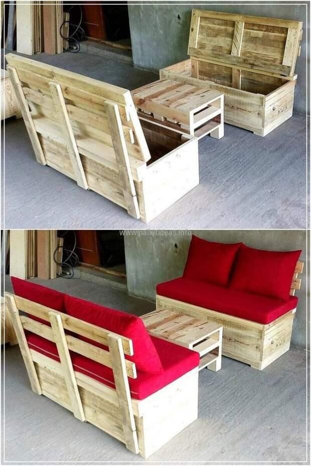 30 креативных идей садовой мебели из паллет