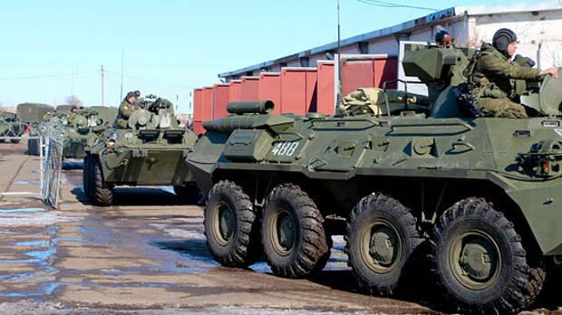 Российские войска возвращаются в места базирования после учений в Крыму