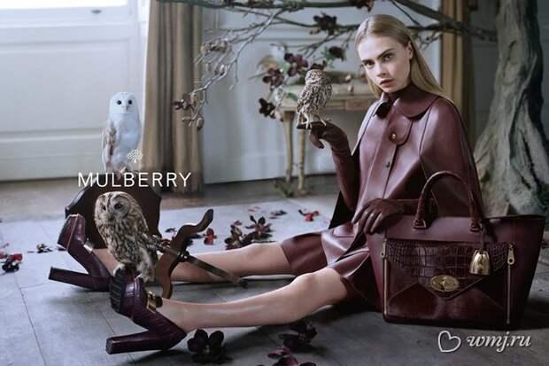 Кара Делевинь в рекламной кампании Mulberry, осень-зима 2013/2014