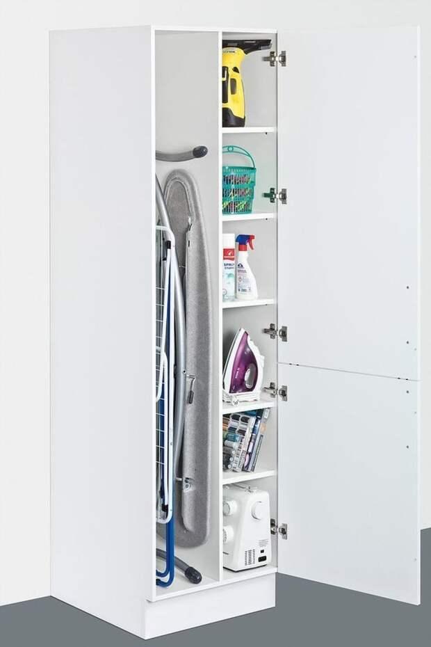 Идеи для хранения гладильной доски. Или 10 мест, где можно спрятать гладильную доску, фото № 4