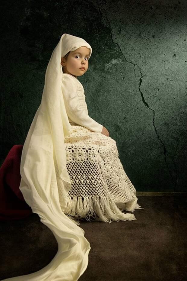 Известные картины в исполнении 5-летней девочки