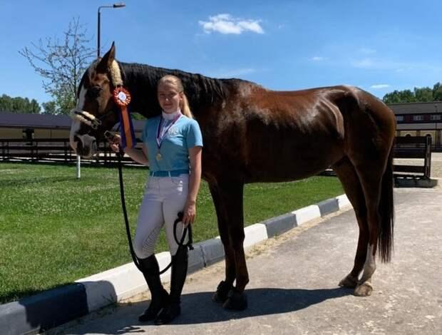 Студентка из ЮВАО стала победителем соревнований по конкуру