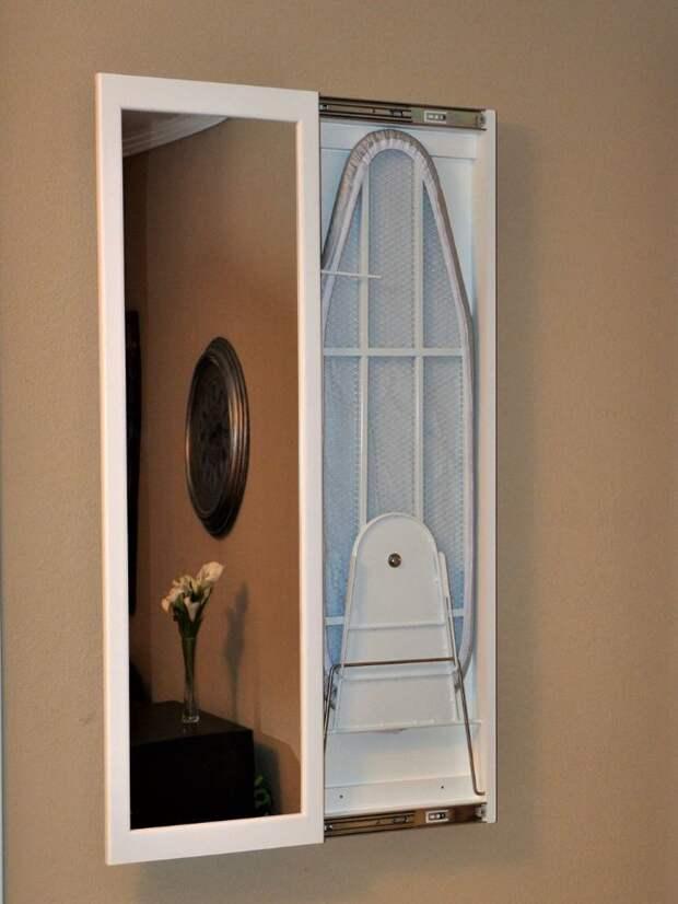 Идеи для хранения гладильной доски. Или 10 мест, где можно спрятать гладильную доску, фото № 16