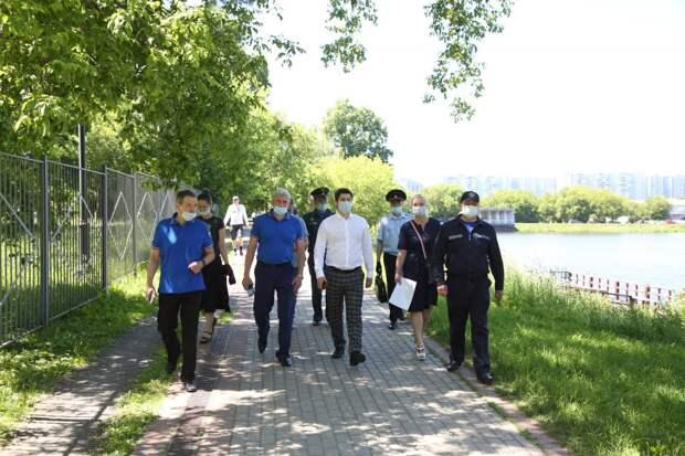 На Джамгаровском пруду прошел рейд безопасности