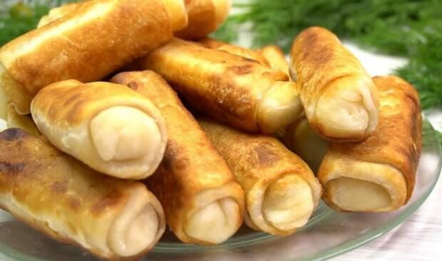 Часто жарю хрустящие и мягкие пирожки-рулетики: начинку беру любую - картошку, капусту и др.