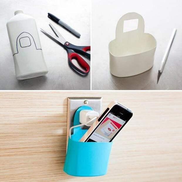 Делаем держатель для зарядки мобильного телефона
