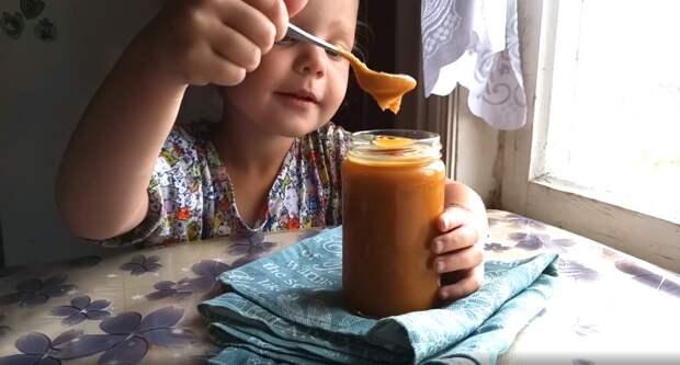 Солёная яблочная карамель из кислых яблок