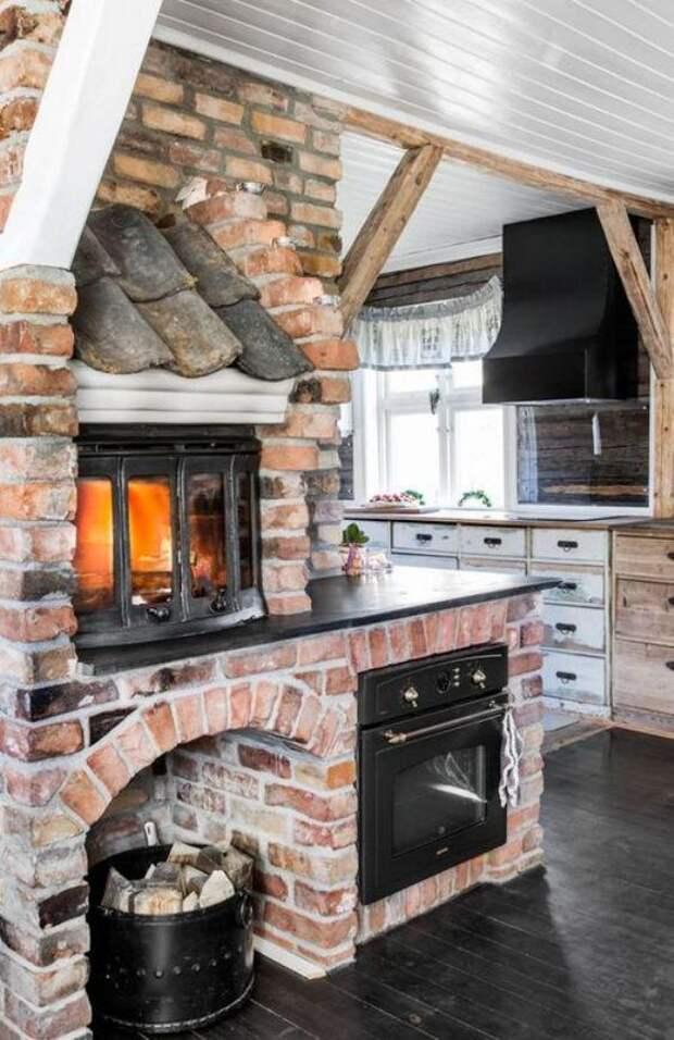 Печь в доме: интерьерные решения, делающие обстановку уютной