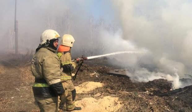 Борьба состихией: вОмске 34 пожарных отбивали дачи уогня