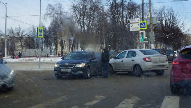 Пробка образовалась в центре Подольска после аварии