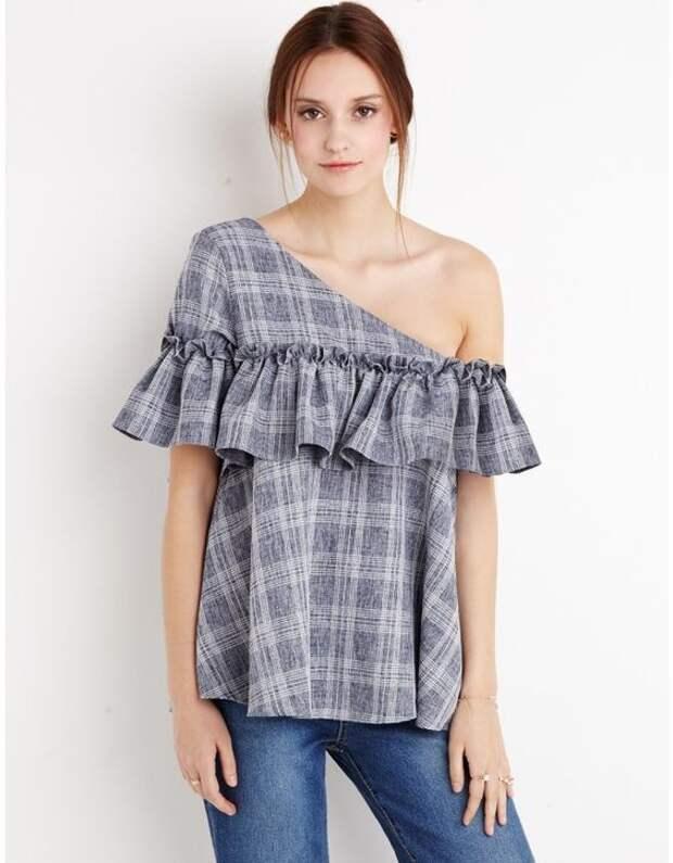 Новые блузки с оборками