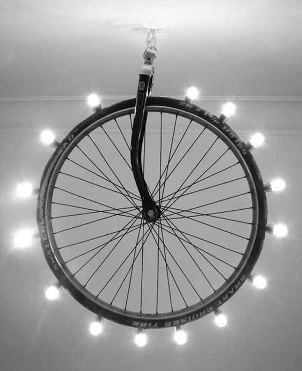 25 творческих вариантов использования колеса в домашнем декоре