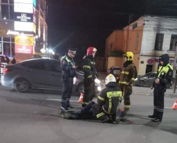 Велосипедиста сбили в центре Калуги