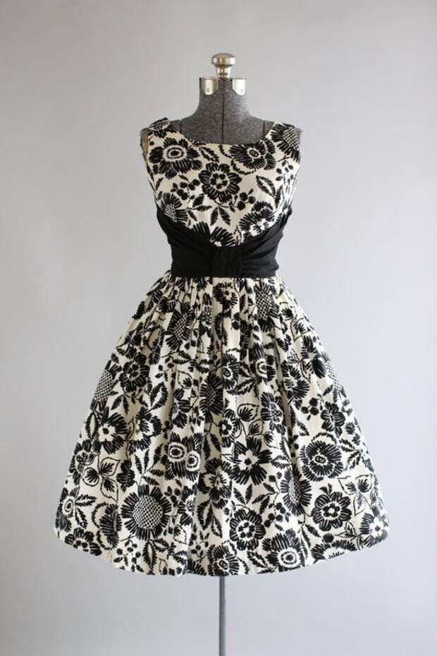 Черно-белые платья в винтажном стиле: изысканная романтика, проверенная временем