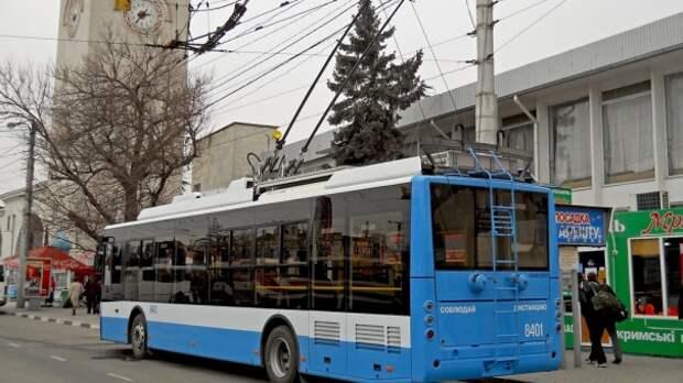 Троллейбусы перестанут ездить в аэропорт из-за капремонта моста через Салгир