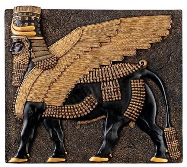 Ану-Резьба и золото из Lamassu