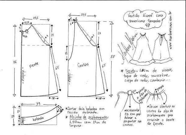 бесплатная выкройка платье сарафан