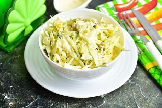 Салат Гулистан. Весенний витаминный салатик из молодой капусты 4