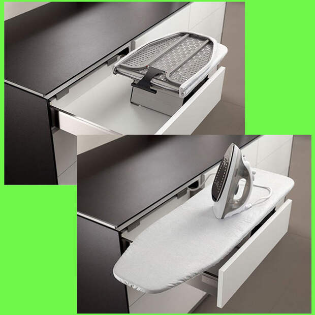 Идеи для хранения гладильной доски. Или 10 мест, где можно спрятать гладильную доску, фото № 24