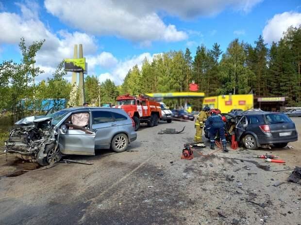 Водитель врезался во встречную машину и погиб в Воткинском районе Удмуртии