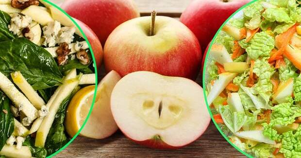 Салаты с яблоками — витаминная бомба: 10 самых сочных, легких и полезных